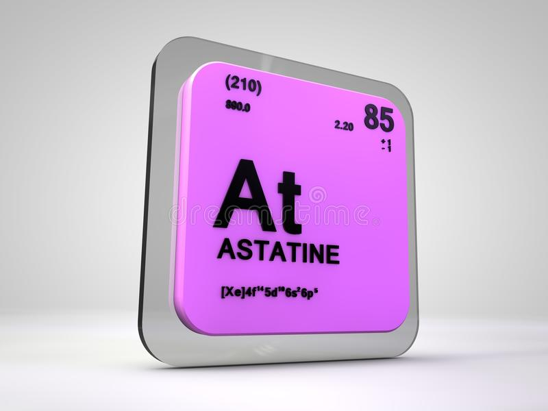 Astatine at chemical element periodic table stock illustration astatine at chemical element periodic table 3d render urtaz Image collections