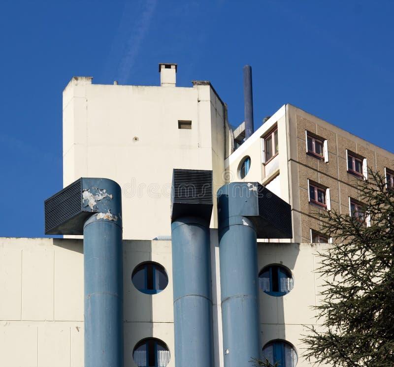 Aste cilindriche di ventilazione enormi immagine stock libera da diritti