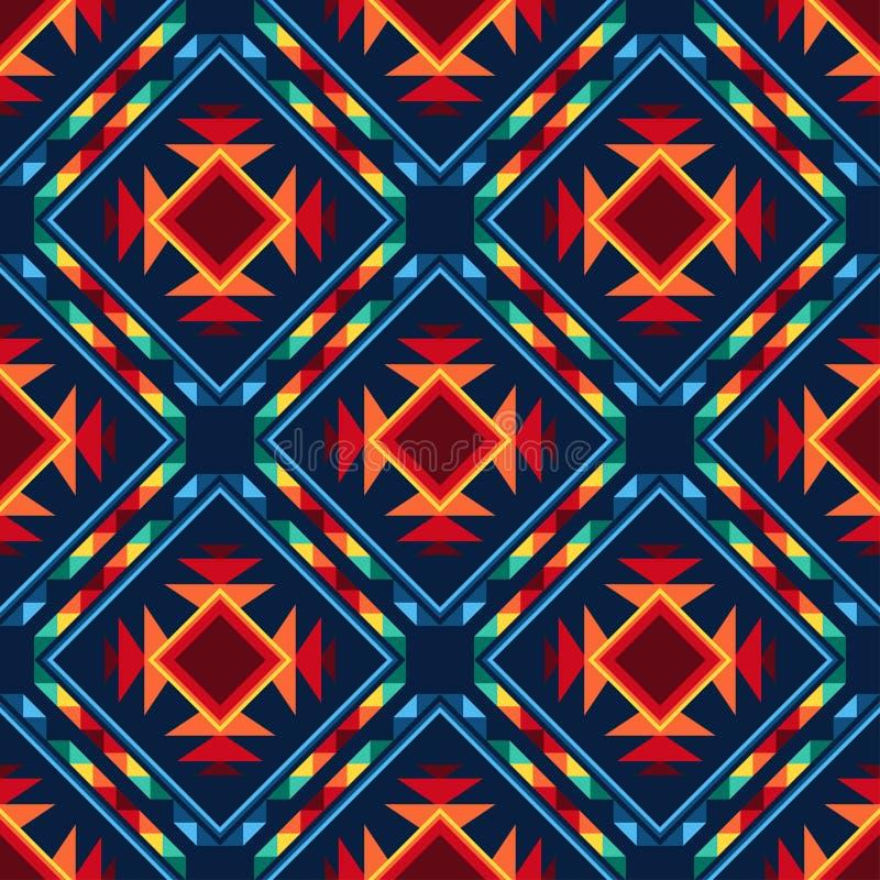 Asteca sem emenda abstrato tribal do teste padrão geométrico ilustração royalty free