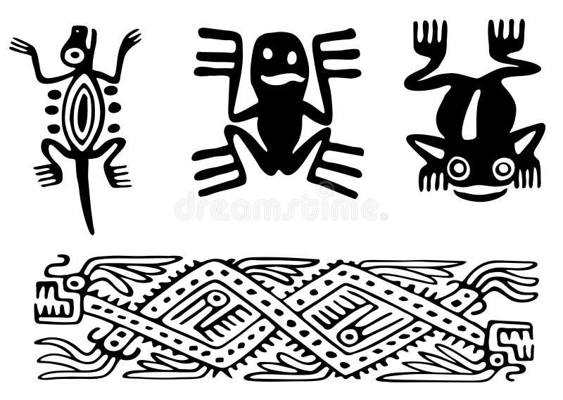 Astecas ilustração royalty free