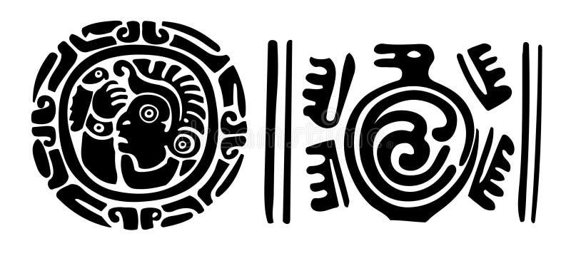 Astecas ilustração stock
