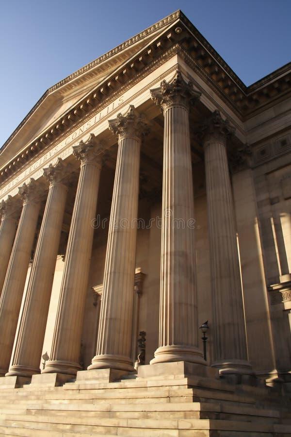 Asteps eines Gerichtsgebäudes stockfotos