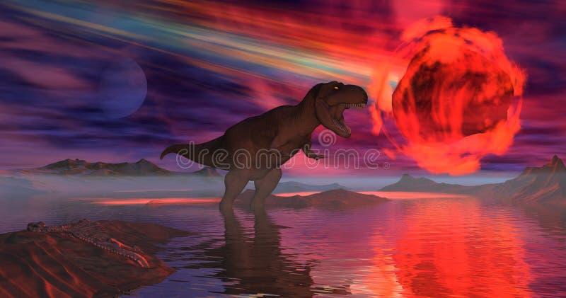 Asteróide ilustração stock