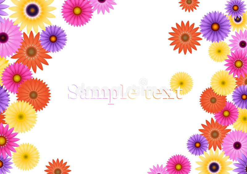 Download Aster flower background stock vector. Illustration of bouquet - 7109007