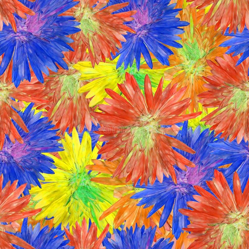 Aster, Michaelmas stokrotka Bezszwowa deseniowa tekstura kwiaty Fl royalty ilustracja