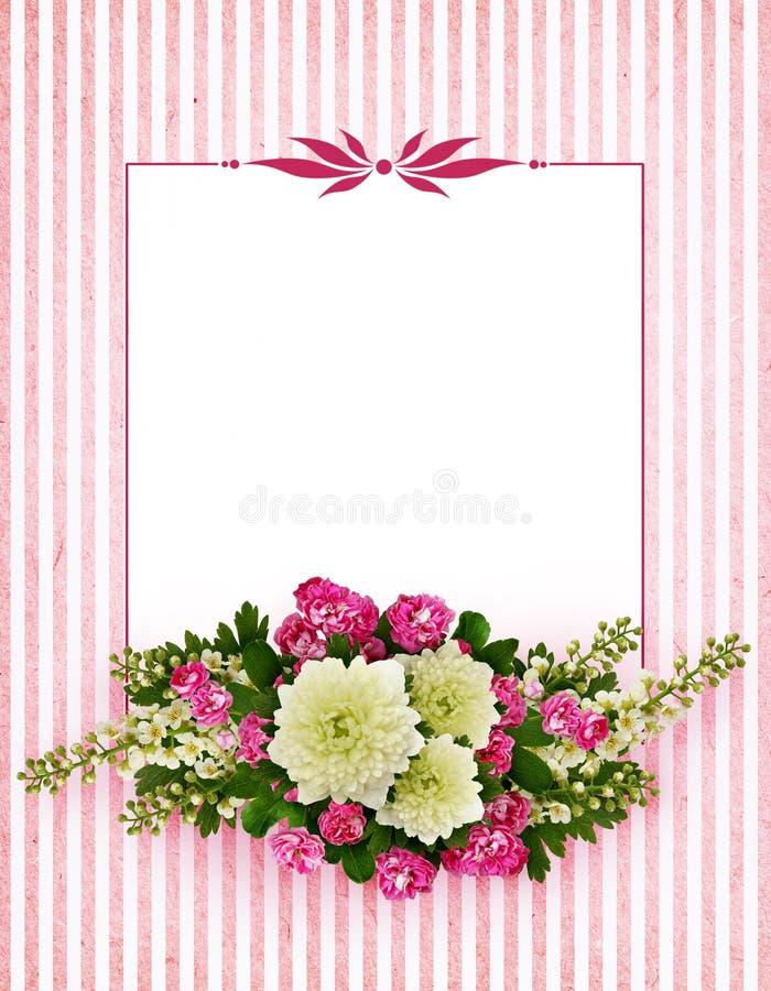 Astern, Vogelkirschbaumblumen und Weißdornblumen arrangemen lizenzfreie stockfotos