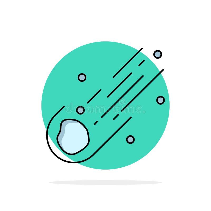 Asteroïde, astronomie, météore, l'espace, vecteur plat d'icône de couleur de comète illustration de vecteur