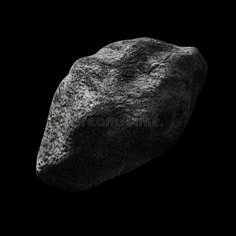 Asteroïde In Lege Ruimte Stock Foto