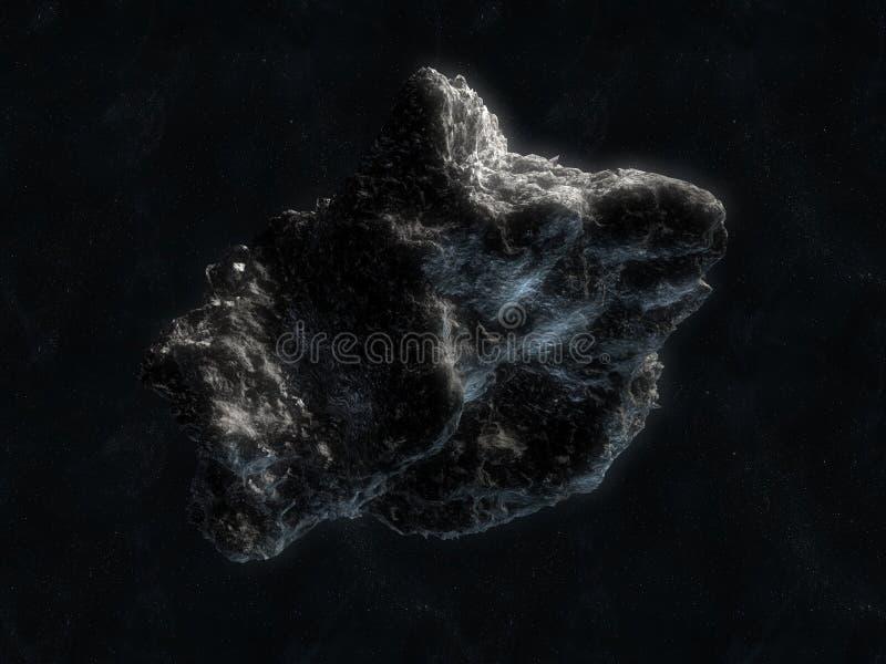 Asteroïde in ruimte royalty-vrije illustratie