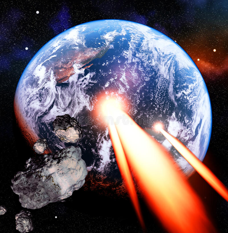 Asteroïdes illustration libre de droits