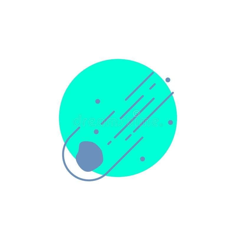 Astero?de, astronomie, meteoor, ruimte, het Pictogram van komeetglyph stock illustratie