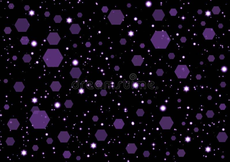asteroidów pozyskiwania tło royalty ilustracja
