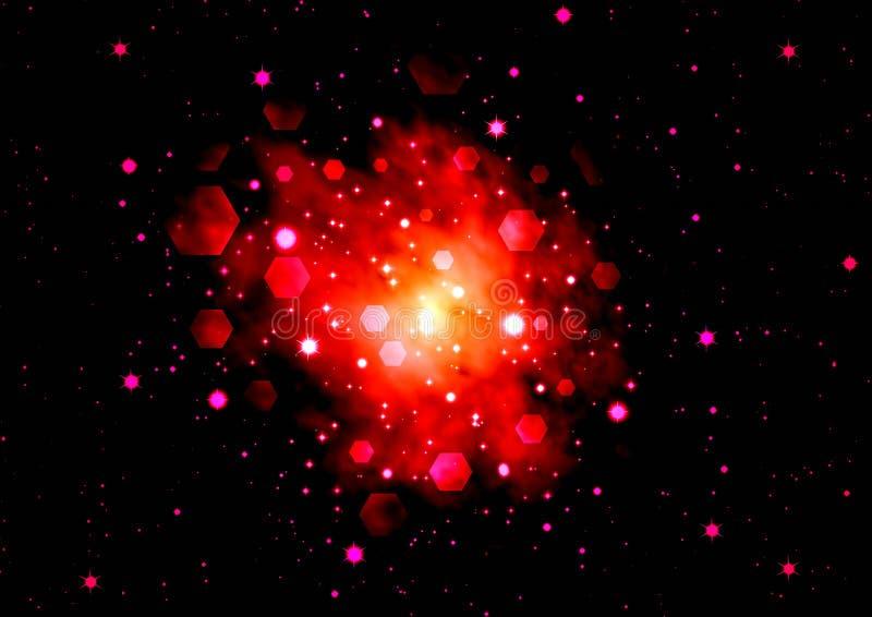 asteroidów pozyskiwania tło ilustracja wektor