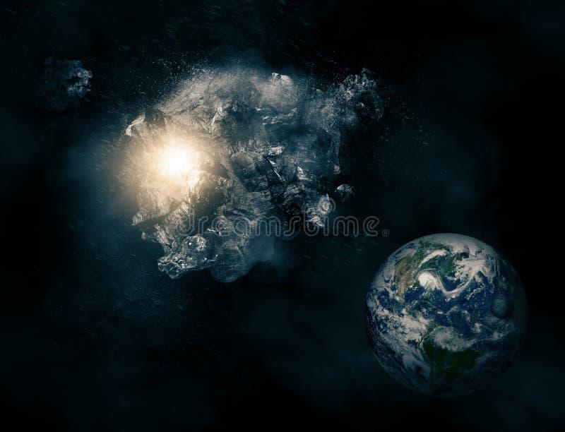 asteroid stock illustrationer