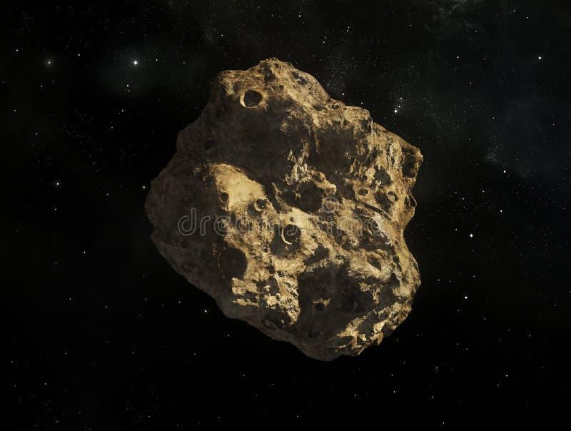 asteroid illustration stock