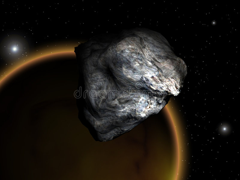 Download Asteroid stock illustration. Image of blue, clouds, fantasy - 8149238