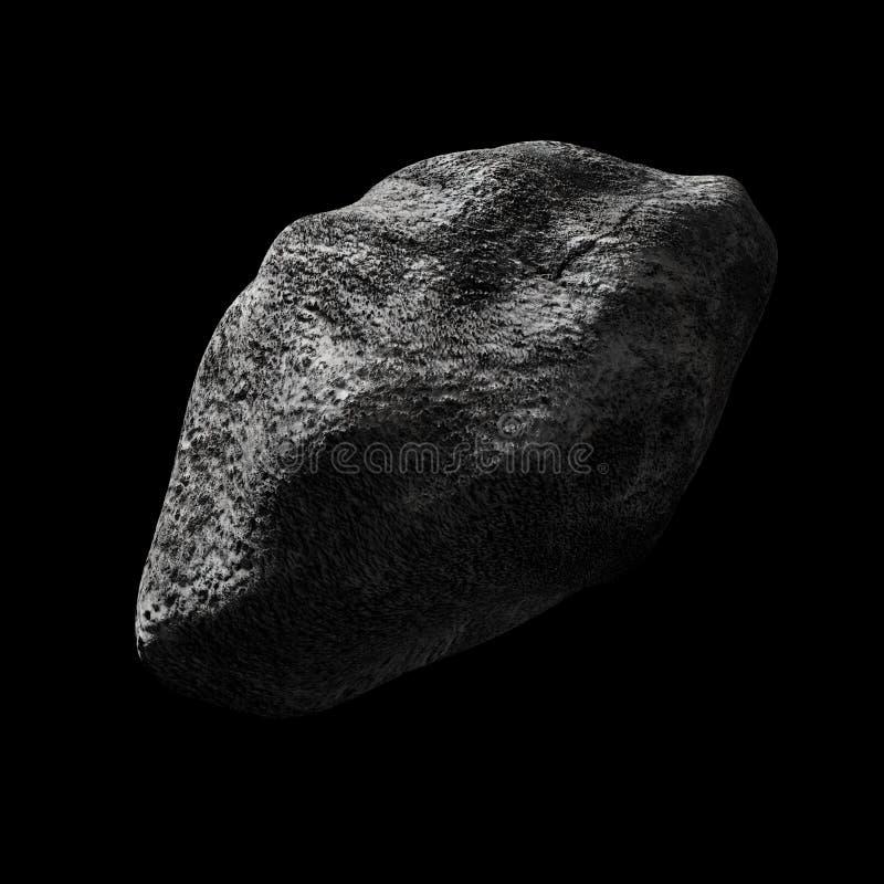 Asteroid im leeren Raum lizenzfreie abbildung