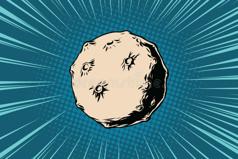 Asteroid mit Kratern im Raum vektor abbildung