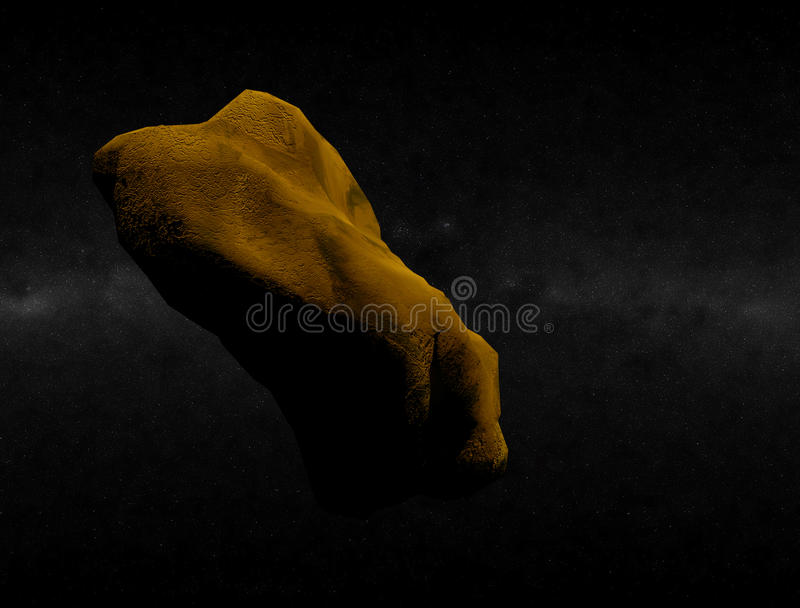 Download Asteroid in Space stock illustration. Image of night - 12995708