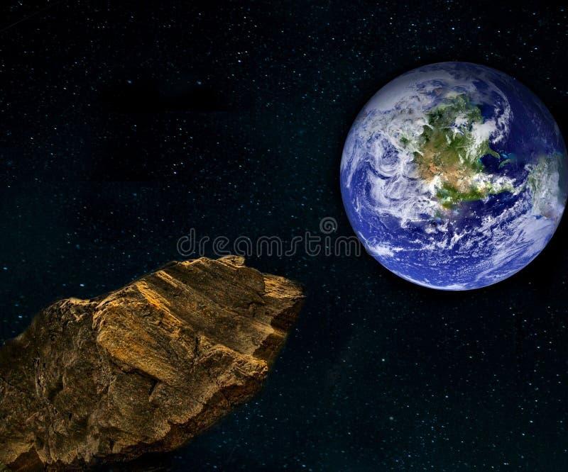 Asteroide - astronomia & ciência ilustração stock