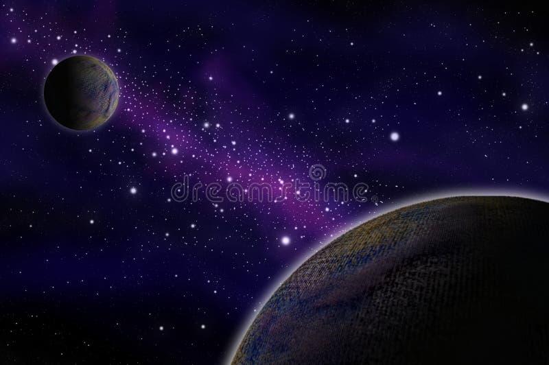 Asteroide nello spazio royalty illustrazione gratis