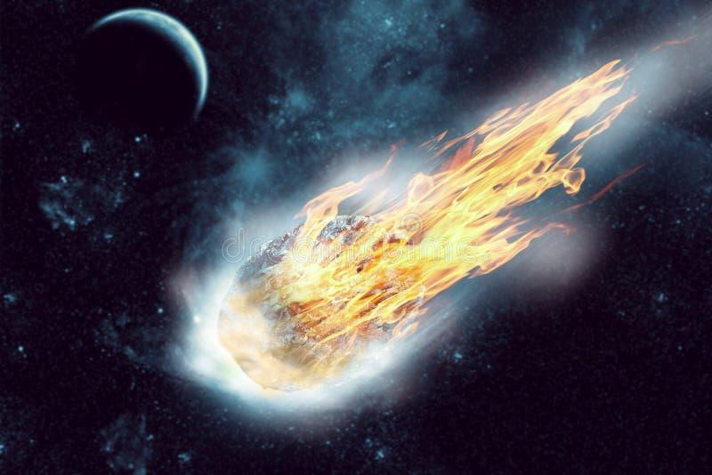 Asteroide no espaço fotografia de stock royalty free