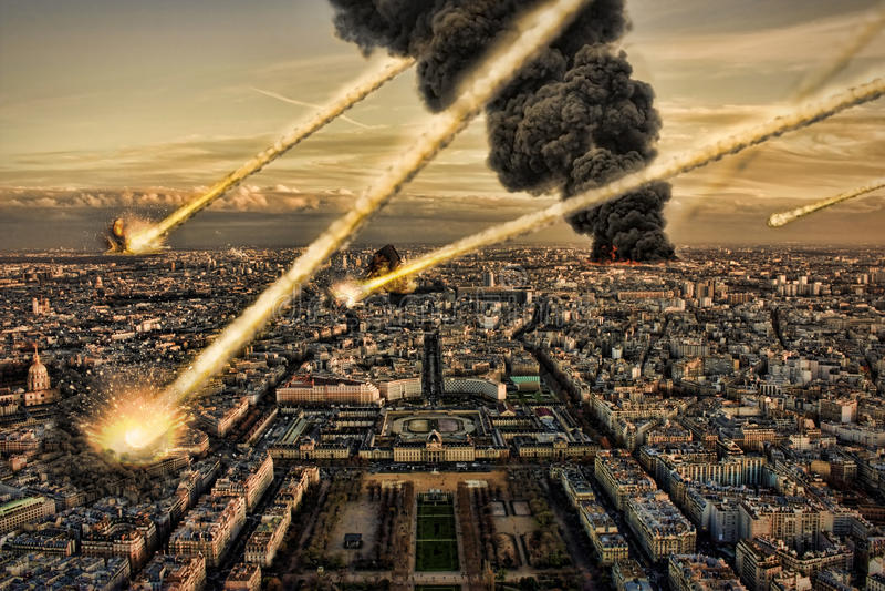 Asteroide y tierra: Impacto del meteorito libre illustration