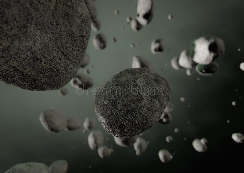 Asteroidfeld vektor abbildung
