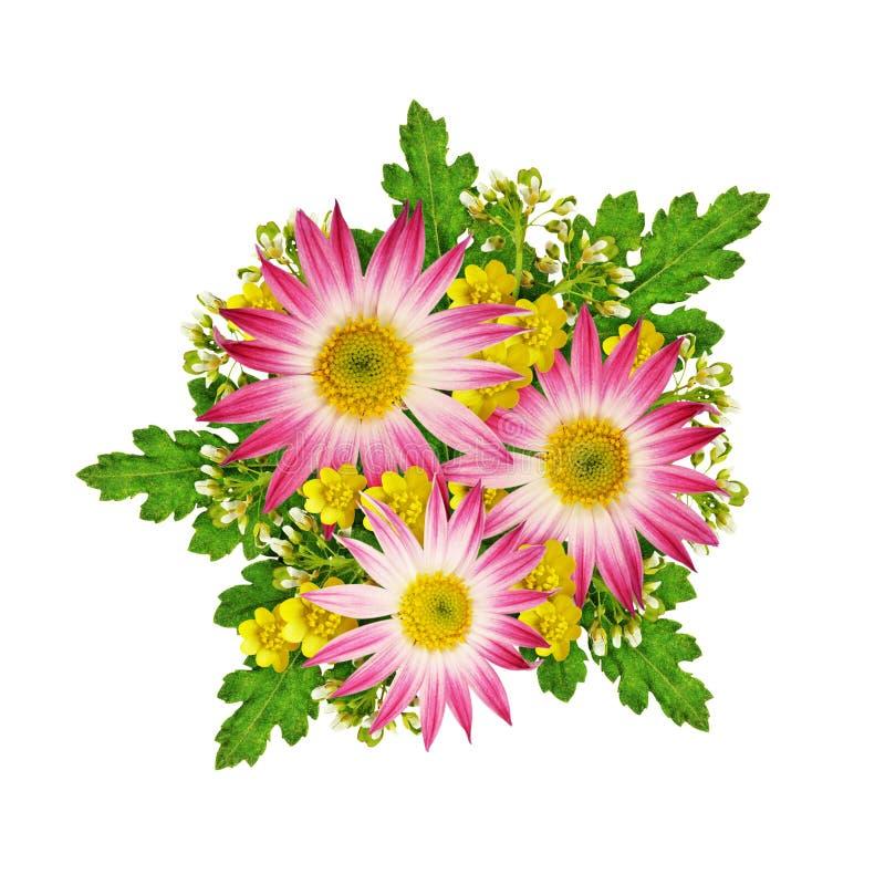 Asters en wild bloemenboeket royalty-vrije stock foto