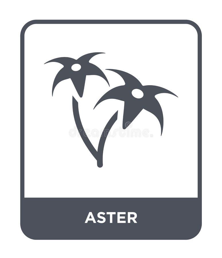 astersymbol i moderiktig designstil astersymbol som isoleras på vit bakgrund enkelt och modernt plant symbol för astervektorsymbo royaltyfri illustrationer