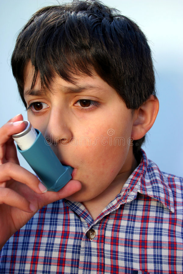 Asthma-Angriff lizenzfreie stockfotografie