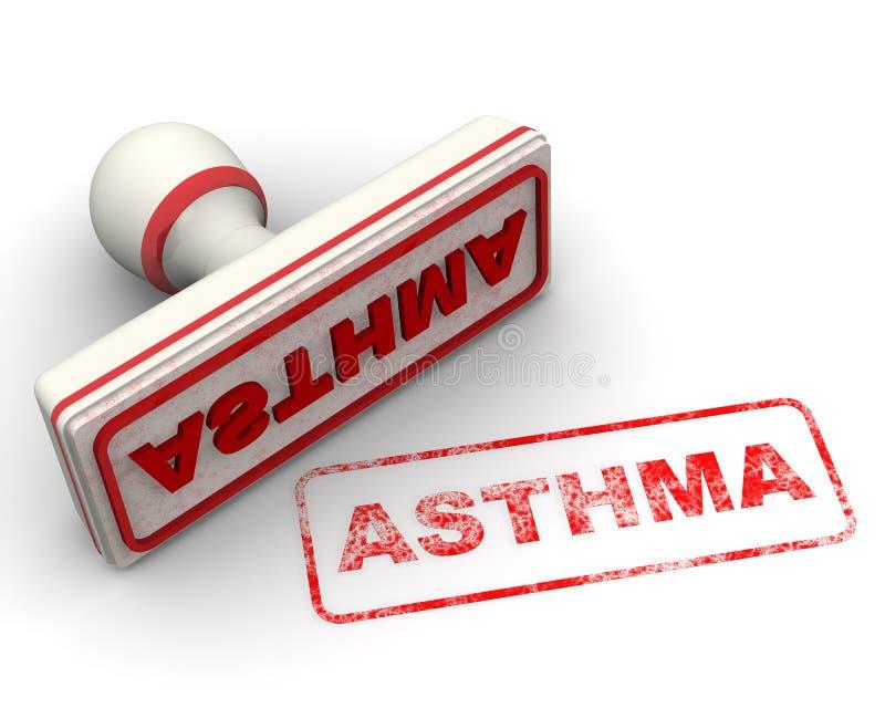 asthma Dichtung und Impressum lizenzfreie abbildung