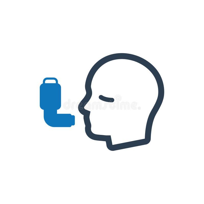 Asthma-Ikone stock abbildung