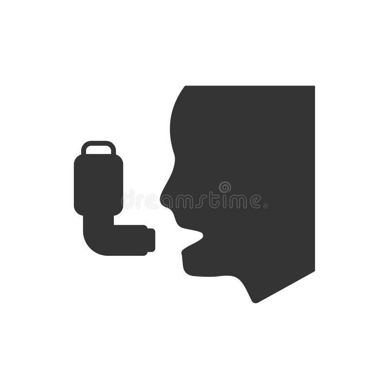 Asthma-Ikone vektor abbildung