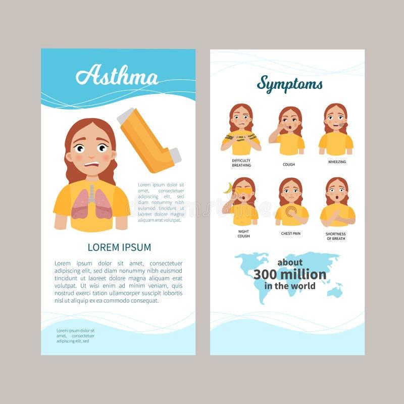 Asthma infographic vektor abbildung
