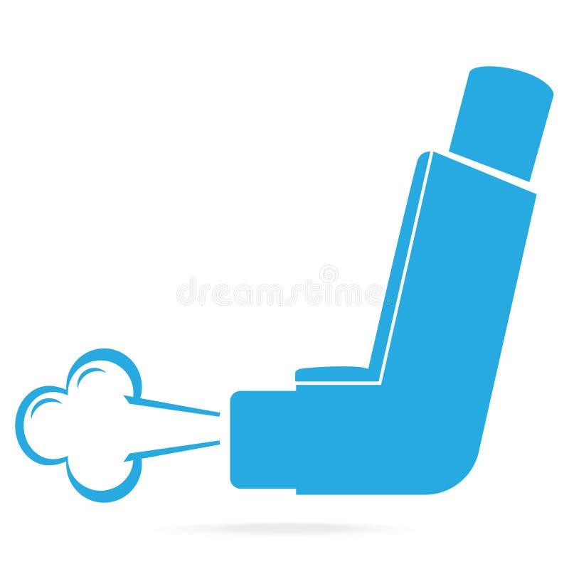 Asthma inhaler blue icon. Medicine symbol. Illustration vector illustration