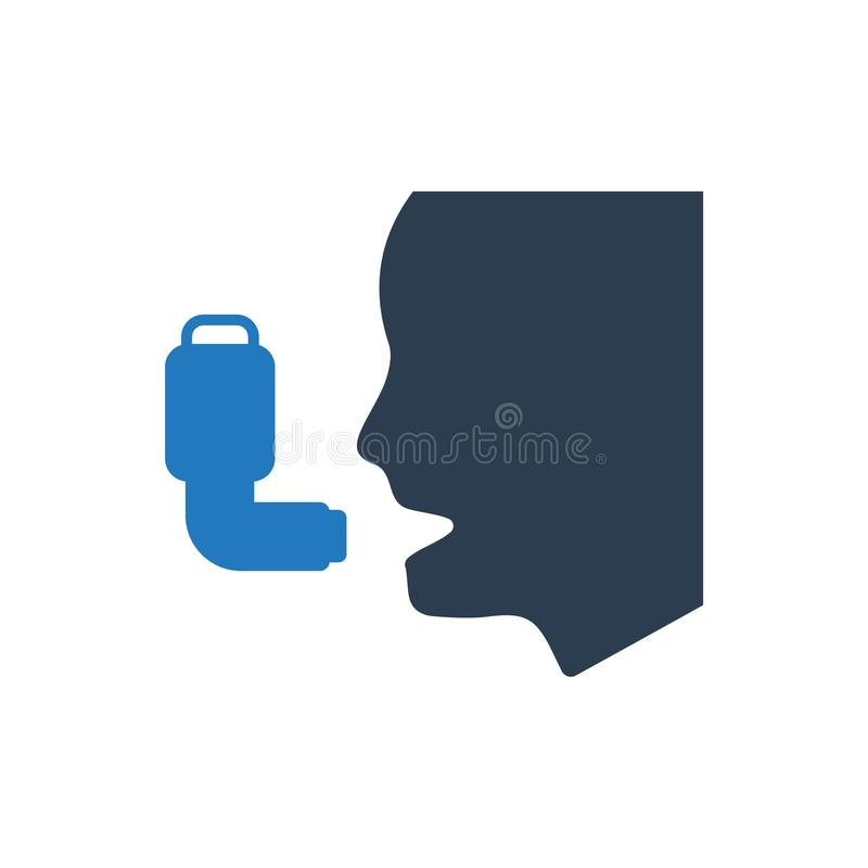Asthma / Inhaler Icon. Beautiful Meticulously Designed Asthma / Inhaler Icon vector illustration