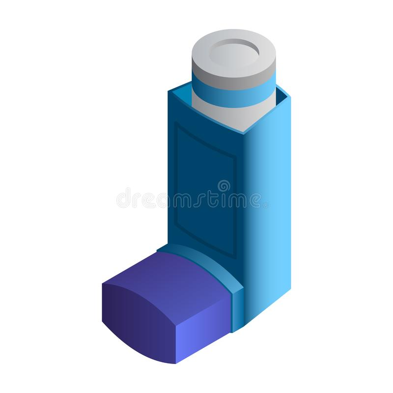 Asthma inhaler icon, isometric style. Asthma inhaler icon. Isometric of asthma inhaler vector icon for web design isolated on white background stock illustration