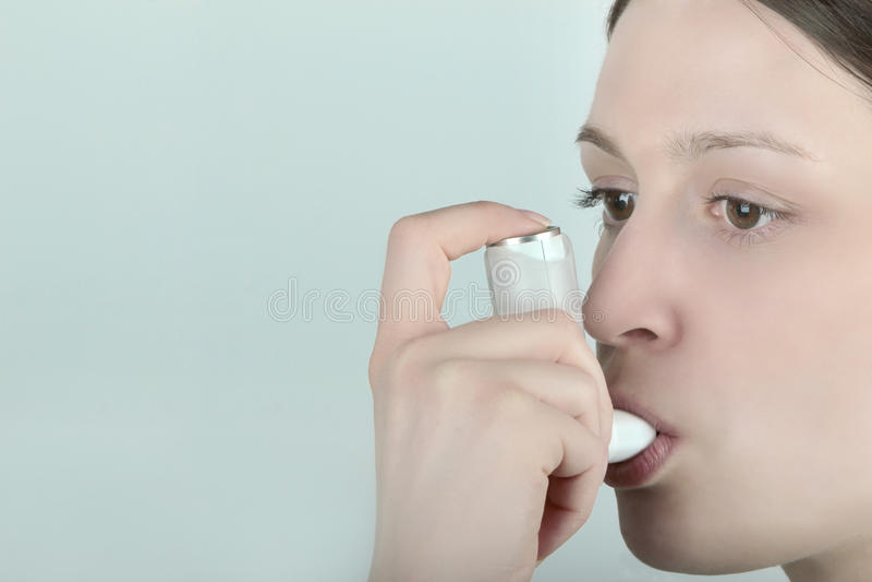 Asthma inhaler II royalty free stock photos
