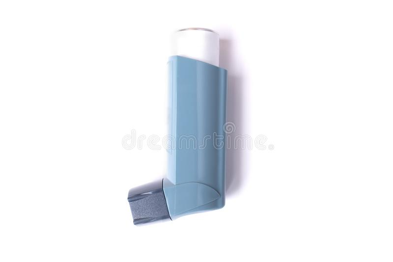 Asthma inhaler isolated on white background stock images