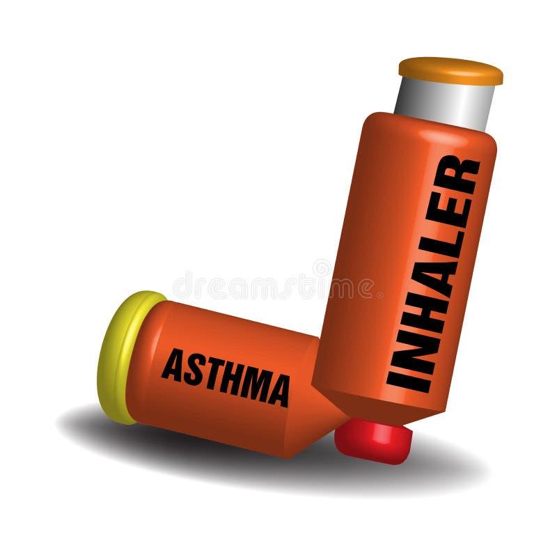 Asthma inhaler royalty free stock photos