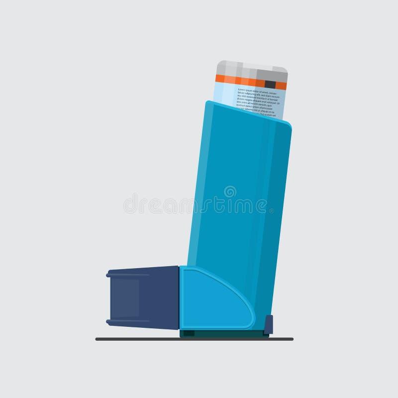 Asthma inhaler. Asthma inhaler vector flat design vector illustration