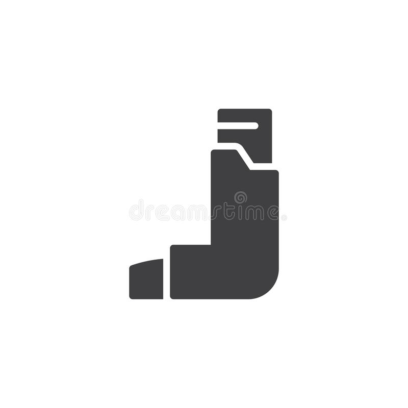 Asthma inhaler vector icon. Filled flat sign for mobile concept and web design. Inhalator simple glyph icon. Symbol, logo illustration. Pixel perfect vector royalty free illustration