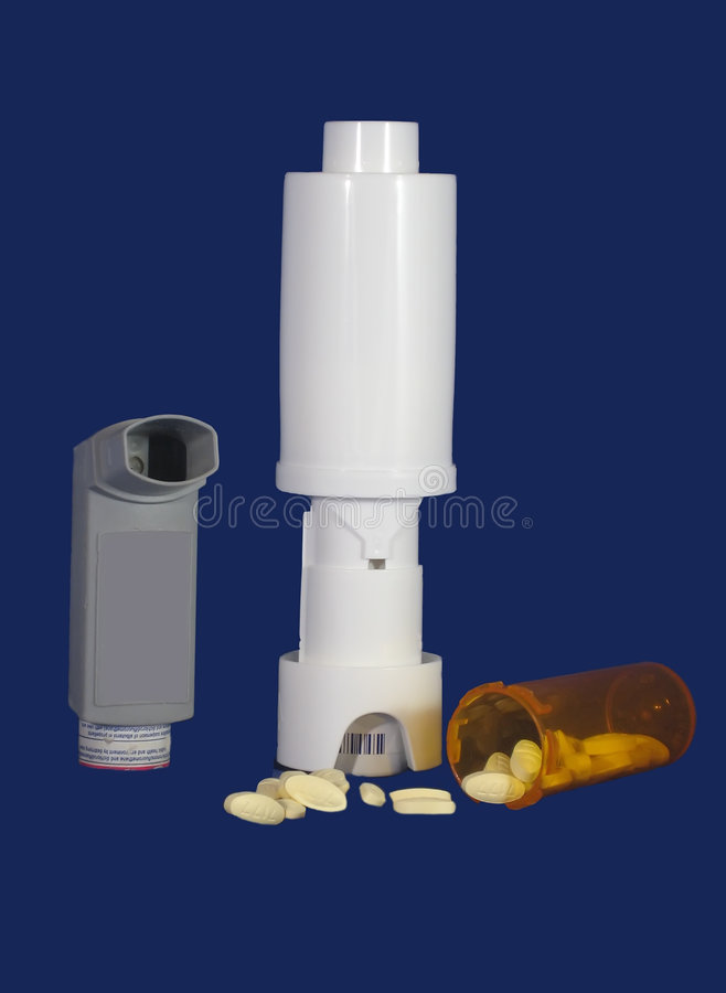 Asthma Meds lizenzfreies stockfoto