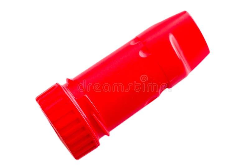 Asthmainhalator auf einem weißen Hintergrund stockfoto