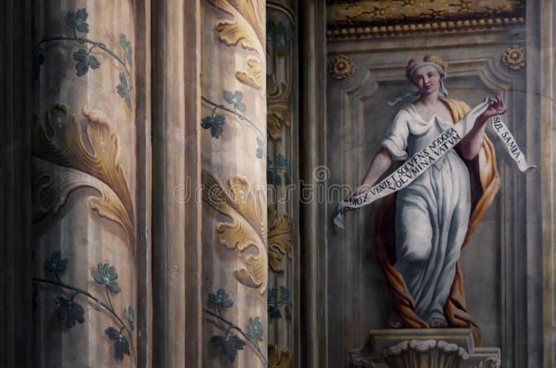Asti Italie, intérieur de cathédrale images libres de droits
