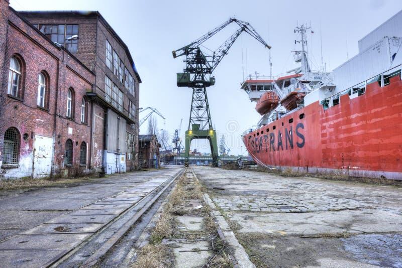 Astilleros anteriores de Lenin en Gdansk, Polonia imágenes de archivo libres de regalías