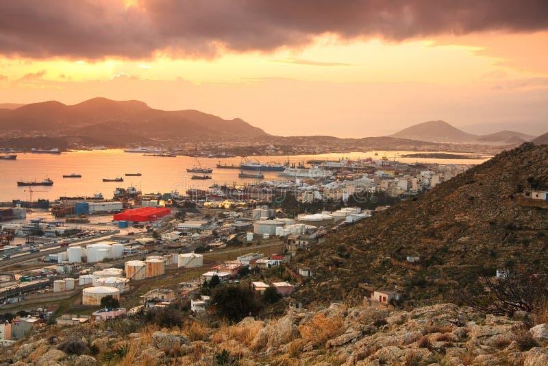 Astilleros en Perama, Pireo, Atenas foto de archivo