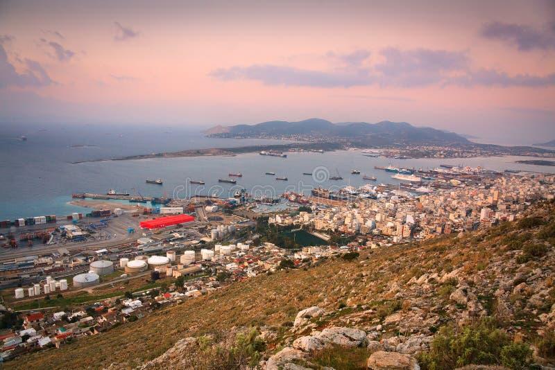 Astilleros en Perama, Pireo, Atenas imagen de archivo libre de regalías