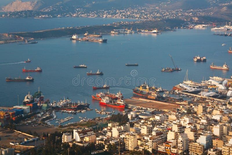 Astilleros en Perama, Pireo, Atenas foto de archivo libre de regalías